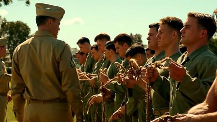 精彩的二战大片,美军新兵刚入训练营,教官可不客气了