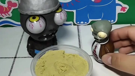 大眼僵尸把好吃的都给了孩子