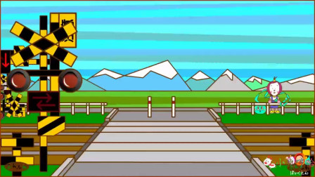 成长益智玩具,火车经过安检,车厢通过红绿灯指示停留检查