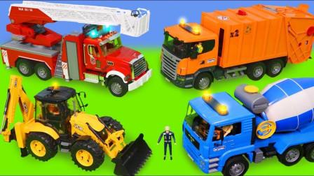最新挖掘机视频表演10018大卡车运输挖土机+挖机工作+工程车