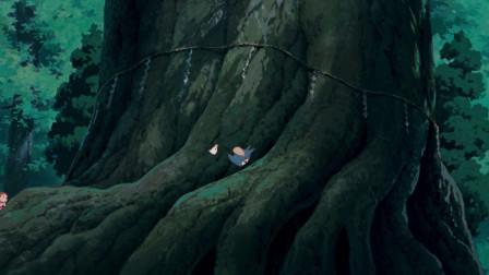 龙猫:太贪玩的孩子不好哦,小梅就是贪玩掉进了可怕的树洞