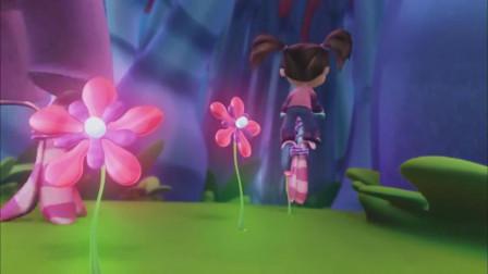 凯特与米米兔:凯特的小机器可真神奇,经过的地方都会长出花朵