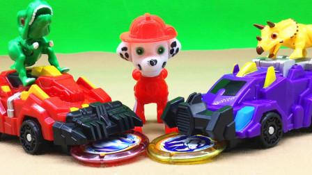 毛毛分享爆龙战车 爆炎毁灭者霸王龙变形玩具