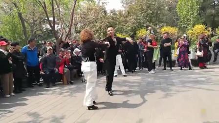 非常好看的吉特巴双人对跳,引来众多人围观和拍照