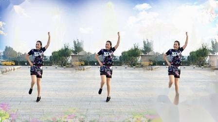 好心情蓝蓝广场舞原创152火爆全网神曲32步DJ【我的爱要你知道正背面】付教学