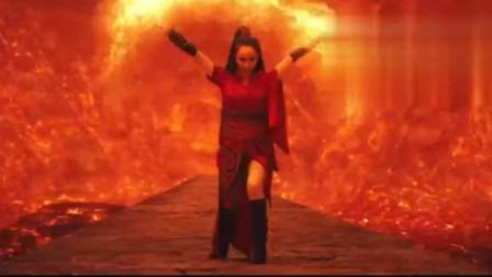 红莲女妖要杀和尚,和尚破开体内封印,一拳将其斩杀!