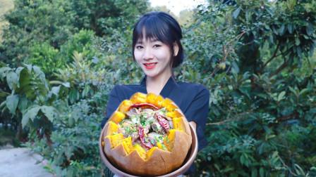 呷呷妹的南瓜蒸排骨太好吃了,做法超简单,味美独特连吃三碗饭