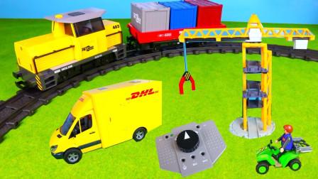 DIY工程车汽车玩具拆箱