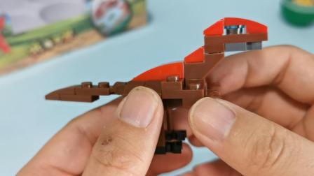 来当拆蛋专家!32片积木的小迅猛龙,只有尾巴能动