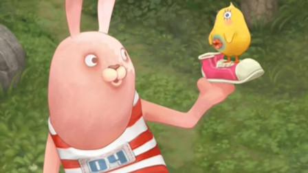 兔:绿衣兔子改造汽车,把红衣兔子的杂志戳了个洞,这下完了
