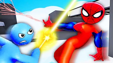 3D版火柴人大乱斗 哥哥变吐丝蜘蛛侠,我的仙女棒更强 小熙屌德斯