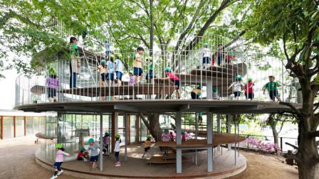 日本这所玻璃树屋幼儿园让人大开眼界,家长纷纷把孩子送到这里!