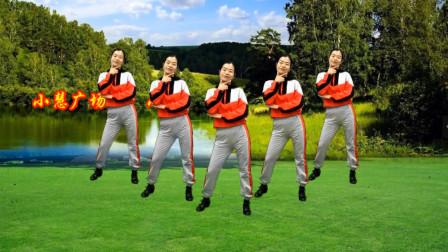 小慧广场舞《小花》动感时尚32步健身舞,跳着真得劲附教学