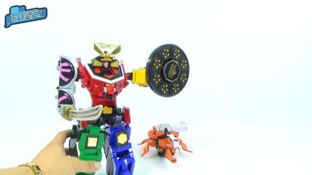 金木水火变形结合机器人手工拼装完成趣味玩具