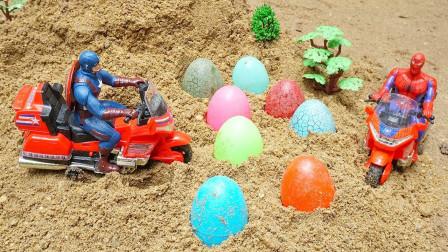 神奇!美国队长是怎么让玩具蛋变成工程车的?蜘蛛侠都看呆了!