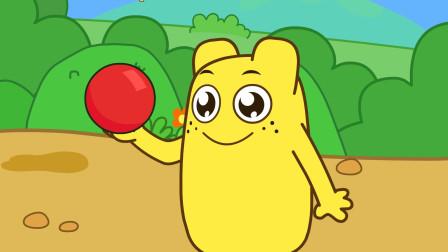 咕力咕力:好玩的红皮球 黄咕力分享新玩具,让宝宝学会分享