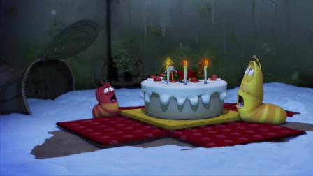 爆笑虫子:圣诞蛋糕,被鞭炮破坏了,求俩虫子心理阴影面积