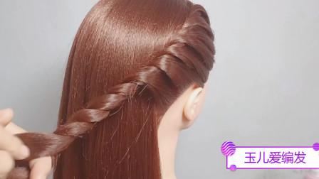 很适合中长发,扎的一款发型,发量多少都能扎,简单好看
