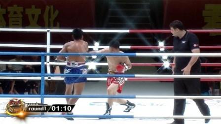 """""""大内高手""""面对泰国悍将, 两套组合拳直接把他打跪了"""