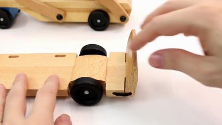 积木卡车头安装车厢,运输工程车,小汽车们!
