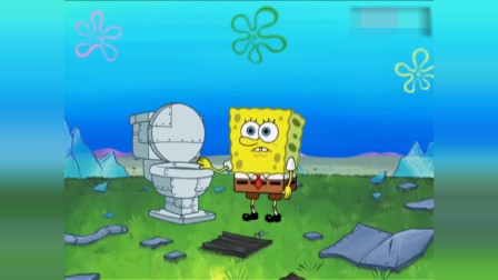 搞笑动画:海绵宝吸收巨大肉饼变肉饼人,用身体掉落的肉沫做蟹堡