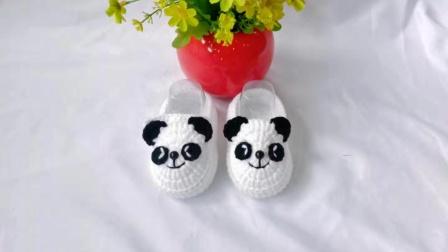【婷婷编织】第116集   小熊猫宝宝鞋婴儿鞋的钩织教程