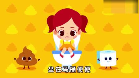 可爱小女女、小男宝自己上厕所表现棒棒哒,记的冲洗马桶洗洗手哦