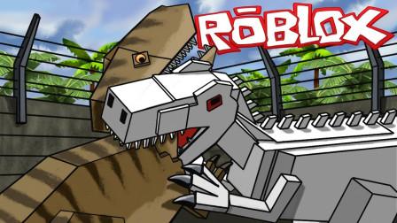 Roblox恐龙猎人!哥斯拉霸王龙!侏罗纪世界大混战?面面解说