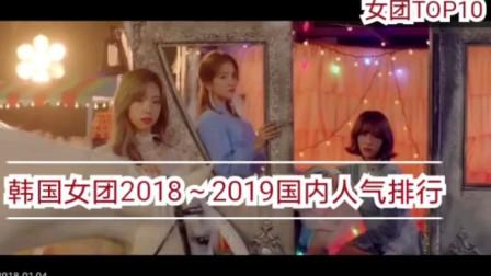 20182019韩国女团中国人气排行TOP10