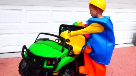 萌娃小可爱想要一辆玩具小汽车,于是请哥哥来帮忙,