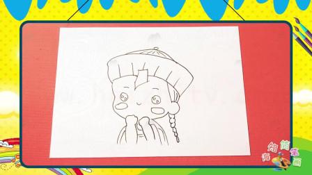 手绘人物简笔画之画可爱的q版小僵尸