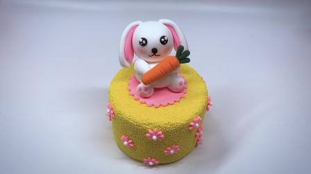 第67课:《粘土蛋糕——可爱垂耳兔》,天才计划diy手工坊