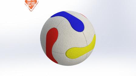 亦明图记:SolidWorks建模,世界杯足球,主要是分割命令的应用