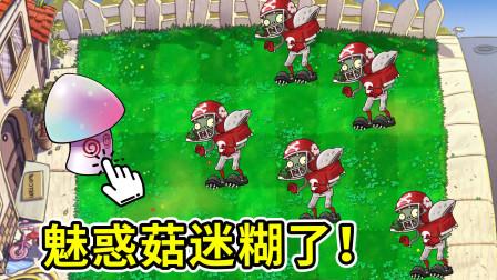 植物大战僵尸95版:魅惑菇迷糊了,这么多大爷防哪个?小宝趣玩