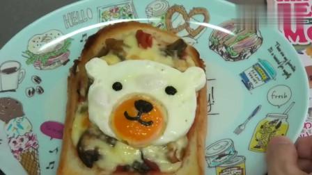 可爱的小熊造型煎蛋,它是这样做出来的