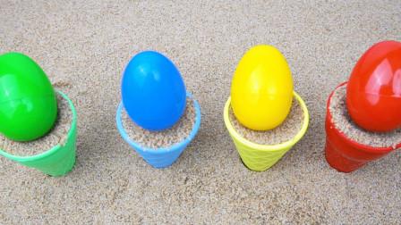 冰激凌沙模拆惊喜玩具蛋 儿童益智认识颜色