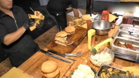 加入了大量奶酪和蔬菜的意大利特色汉堡,纯牛肉风味