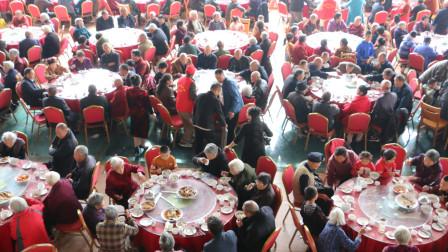 壮观! 庆重阳, 数百位老人同赴饺子宴