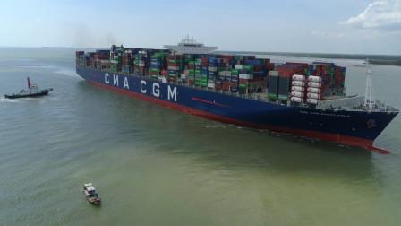 """世界上最大的货轮,能装下埃菲尔铁塔,简直是海上的""""巨无霸""""!"""