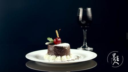 精致巧克力小花蛋糕,创意美食短视频