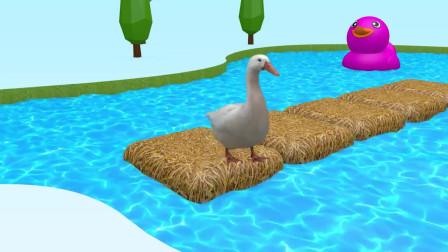 趣味益智动画片 鸭子吃辣椒生出彩色小鸭子