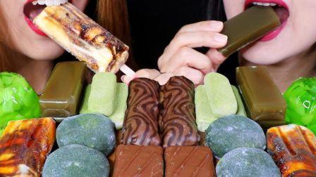 【Kim&Liz】糯唧唧派对~绿茶麻薯、珍珠奶茶雪糕、绿茶羊羹、青柠果冻、豆沙青团、莫扎特钢琴巧克力条、巧克力涂层玫瑰味土耳其糖~