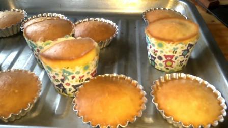 5个鸡蛋一碗面,教你在家做老式无水蛋糕,还是小时候的味道