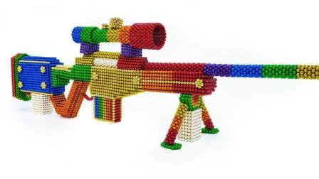 酷,达人教你用磁球制作狙击枪模型,难度不会很大,一起来做吧