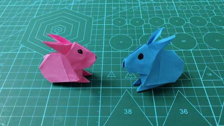 萌萌哒小兔子折纸,小朋友很喜欢,为孩子收藏了