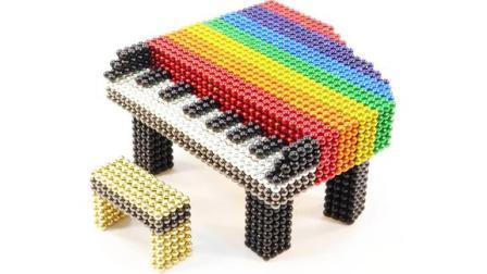 如何用磁球DIY制作彩虹钢琴?高手真是厉害,一起来学习!