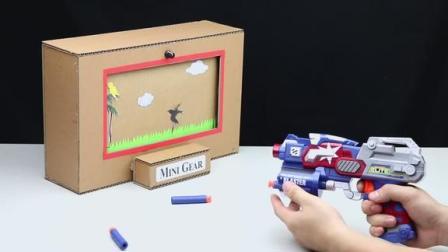 纸板哥手工,教你制作一个二次元射击小鸟的游戏盒