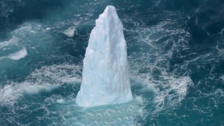 冰川慢慢流动,像手指从冰层内向外伸展