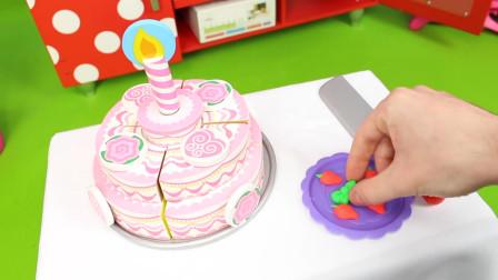 儿童益智厨房玩具,一起来看看漂亮大蛋糕是怎么做的吧