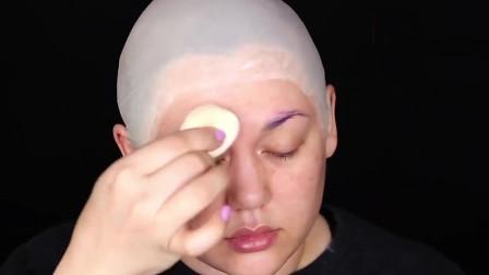 地狱男爵仿妆,小姐姐这化妆技术也太好了吧,堪比电影特效